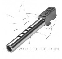Lone Wolf Barrel M/20T 10mm Tactical Length Internal 4 Port (130mm)