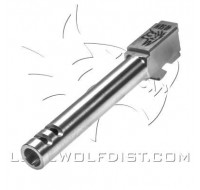 Lone Wolf Barrel M/23 40 S&W Extended 2 Port (124mm)