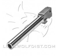 Lone Wolf Barrel M/35 Conversion to 9mm Stock Length (135mm)