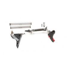 ZEV Fulcrum Gen 4 Glock 9mm Drop In Trigger Kit - Black Trigger/Red Safety (ZT-FUL-DRP-9-4G-BR)