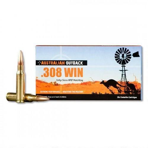 Australian Outback Ammunition  308WIN 168GN Sierra HPBT MatchKing (20)