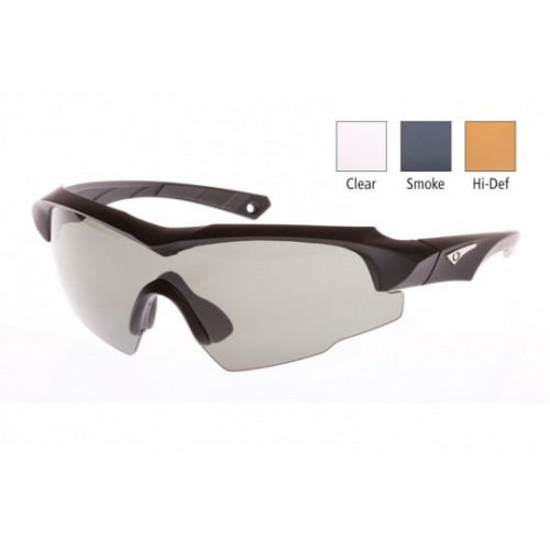 e9115faed8 Blueye Eyewear - Jager Impacto Smoke - Clear and HD Sunglasses with RX  Adaptor