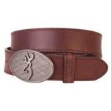 Browning Oval Buckmark Belt Brown
