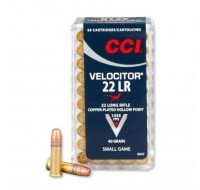 CCI Ammunition Velocitor 22 Long Rifle 40GN Plate Lead Hollow Point (50)