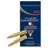CCI Ammunition 17 Hornady Magnum Rimfire (HMR) 20GN Game Point JSP (50)