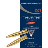 CCI Ammunition 17 Hornady Magnum Rimfire (HMR) 17GN Jacketed Hollow Point TNT (50)