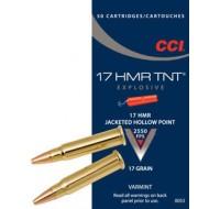 CCI Ammunition 17 Hornady Magnum Rimfire (HMR) 17GN Jacketed Hollow Point TNT (50)
