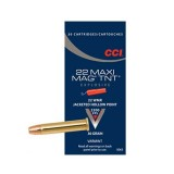 CCI Maxi-Mag Ammunition 22 Winchester Magnum Rimfire (WMR) 30GN Speer TNT Jacketed Hollow Point (50)