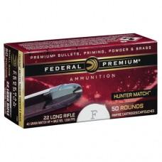Federal Premium Hunter Match Ammunition 22LR 40GN Hollow Point (500)