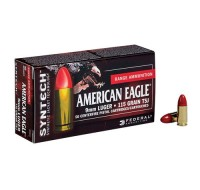 Federal American Eagle Ammunition 9MM 115GN TSJ Syntech Jacket (50)