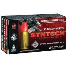 Federal American Eagle Ammunition 9MM 150GN TSJ Syntech Jacket (50)