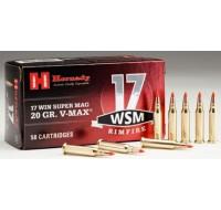 Hornady Ammunition 17 Winchester Super Magnum 20 Grain V-Max (50)