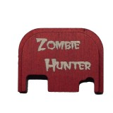 Lone Wolf Engraved Slide Cover Plate - Zombie Hunter