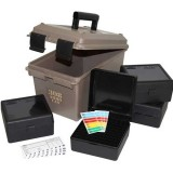 MTM Ammo Can ACC308 with 4 Flip-Top Ammo Boxes 22-250, 243, 308 100-Round Plastic Black