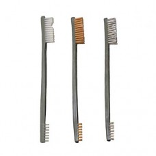Otis All Purpose Gun Cleaning Brush Double Ended Nylon, Bronze and Stainless Steel Package of 3