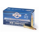 PPU Ammunition 22 Hornet 45GN SP (50)
