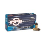 PPU Ammunition 9mm 125gn LRN (20)