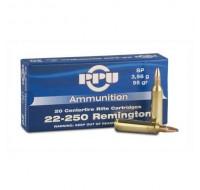 PPU Ammunition 22-250 55gn SP (20)