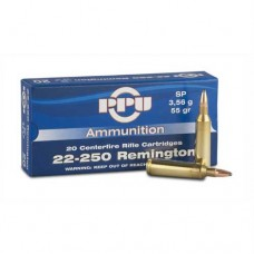 PPU Ammunition 22-250 55gn SP (20)