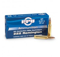PPU Ammunition 222 Rem 50gn SP (20)