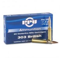 PPU Ammunition 303 British 174gn FMJ BT (20)