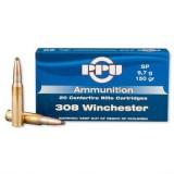 PPU Ammunition 308 Win 150gn SP (20)
