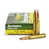 Remington 270 Winchester Pointed Soft Point Core-Lokt 130 GN (20)