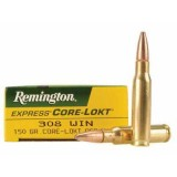 Remington 308 Winchester Pointed Soft Point Core-Lokt 150 GN (20)