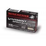 Winchester Varmint Special Ammunition .308 Win 130GN Woodleigh PP (20)