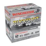 """Winchester Buckshot 12 Gauge SSG 2-3/4"""" 18 Shot (25)"""