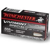 Winchester Varmint Special Ammunition 222 Rem 50GN Sierra Blitzking (20)
