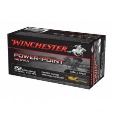 Winchester Power Point Ammunition 22LR 42GN HP (50)