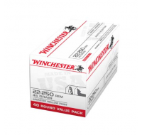 Winchester USA Ammunition 22-250 Remington 45 Grain Jacketed Hollow Point (40)