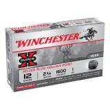Winchester 12 Gauge 1oz Rifled Slug 1600 fps Ammunition (5)