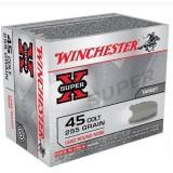 Winchester Super X 45 Colt (Long Colt) 255GN LRN (20)